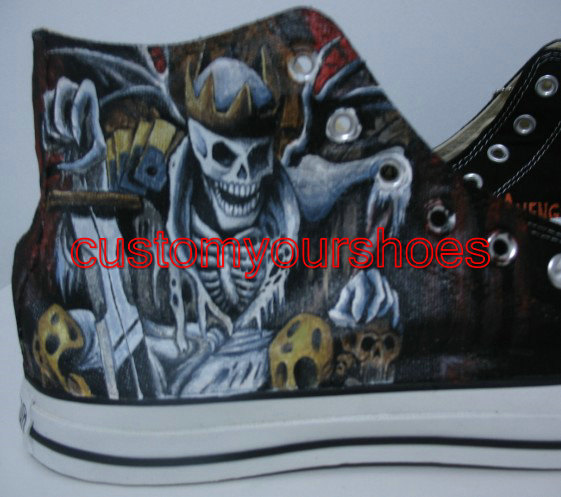 custom Avenged Sevenfold converse handpainted shoes-2