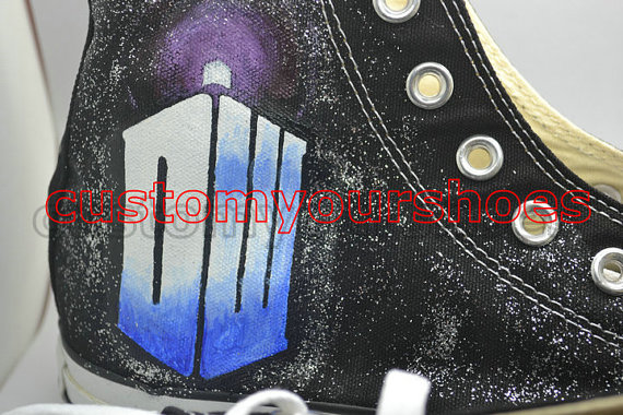 custom doctor who converse handpainted shoes-4