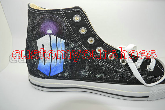 custom  doctor who converse handpainted shoes-2