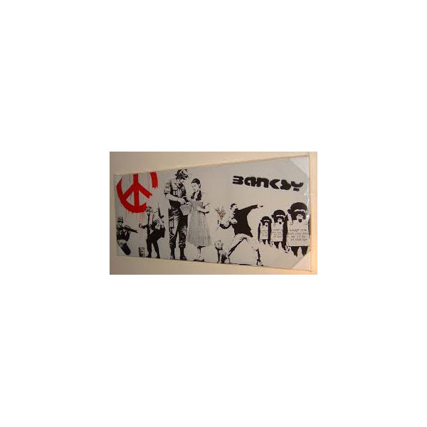 Banksy Collage custom painted shoes