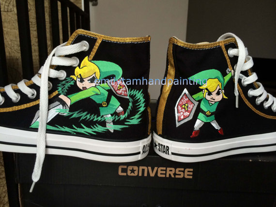 Custom Kicks High-top Painted Canvas Shoes-1