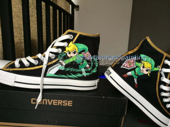 Custom Kicks High-top Painted Canvas Shoes-3