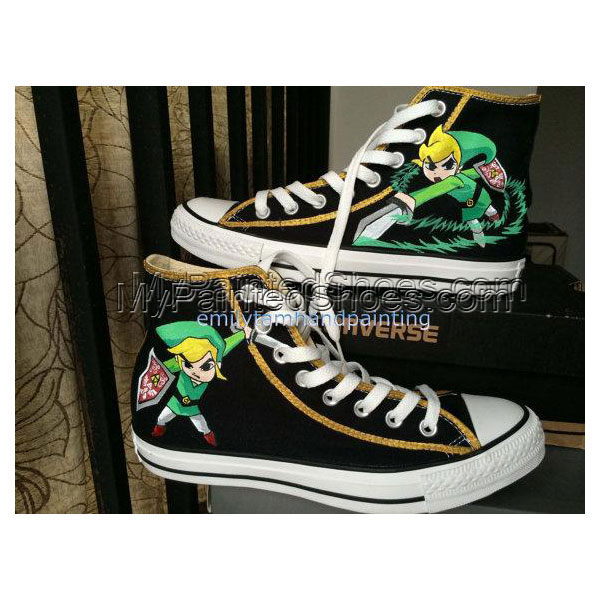 Custom Kicks High-top Painted Canvas Shoes