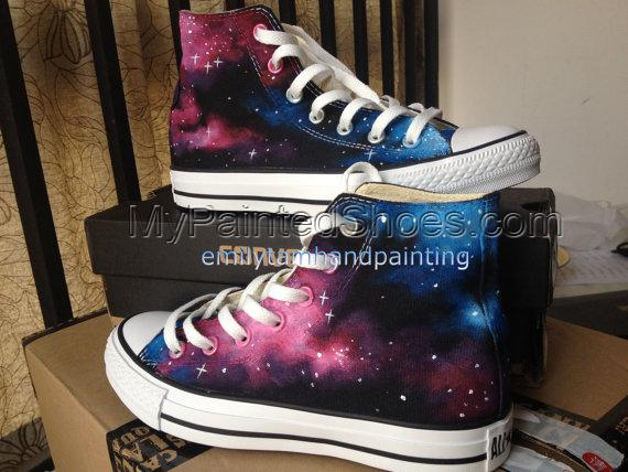 Just Fall in Love with Galaxy Design-Red Pink Blue Galaxy Conver-1