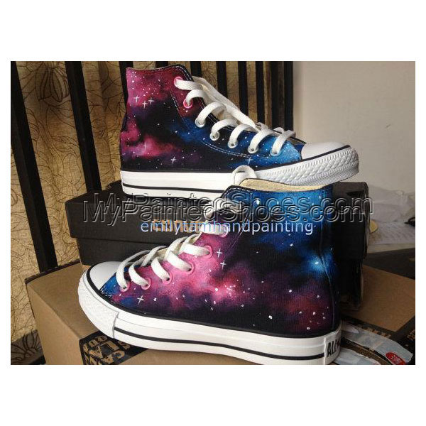 Just Fall in Love with Galaxy Design-Red Pink Blue Galaxy Conver
