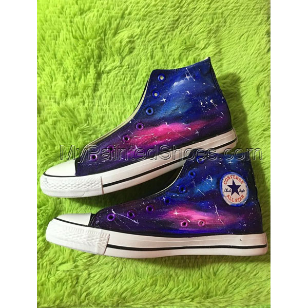 Galaxy Blue and Purple Galaxy Shoes