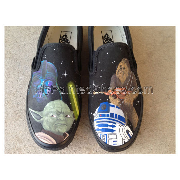 Star War Shoes Custom Star War Hand Painted Shoes