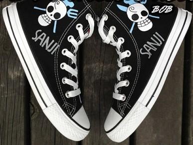 Anime Custom Sanji One Piece Shoes Hand Painted Shoes-1