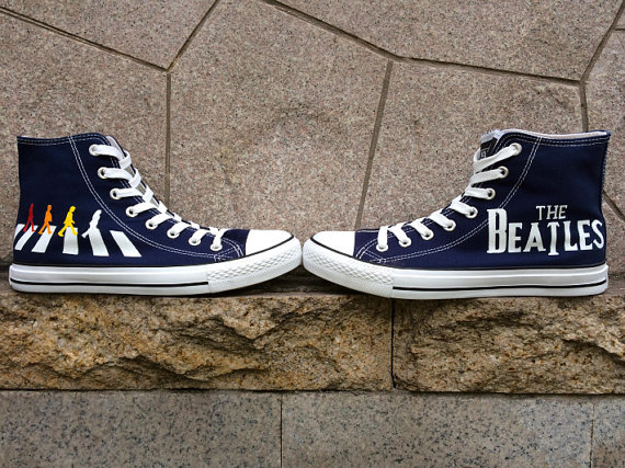 The Beatles Converse Painted Custom The Beatles Custom Hand Pain-3