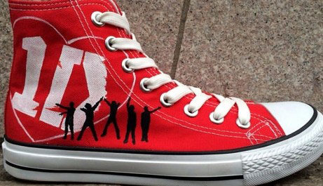 One Direction Shoes Custom One Direction Shoes Custom 1D Hand Pa-1