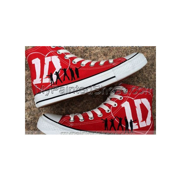 One Direction Shoes Custom One Direction Shoes Custom 1D Hand Pa