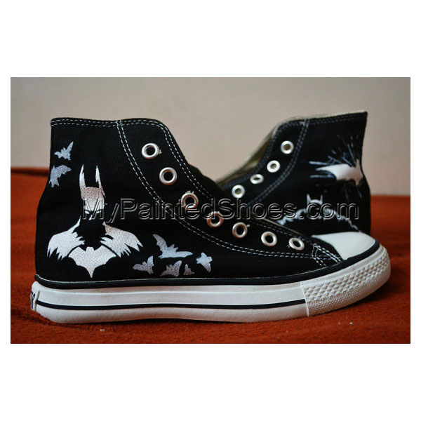 Batman Hand Painted Shoes Batman High-top Painted Canvas Shoes