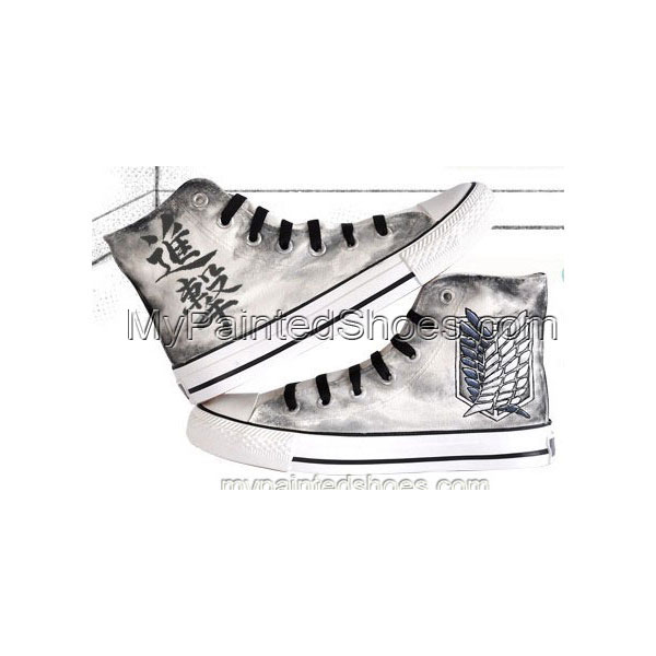 attack on titan Shoes hand painted Shoes anime shoes anime