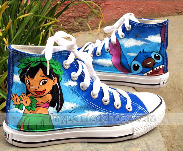 lilo and stitch shoes anime stitch shoes hand painted shoes-1