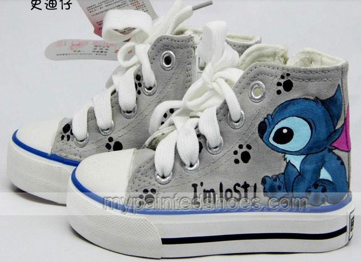 stitch shoes lilo and stitch shoes anime stitch shoes hand paint-1
