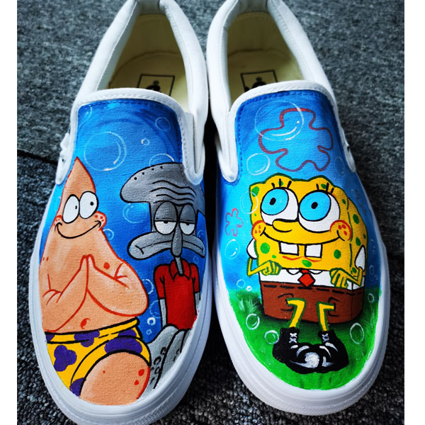 spongebob vans shoes spongebob vans anime hand painted shoes