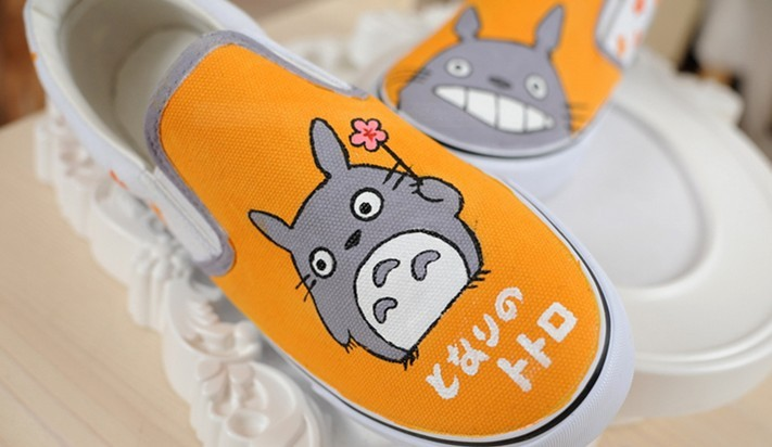 totoro shoes totoro anime shoes My Neighbor Totoro Custom Hand P-1