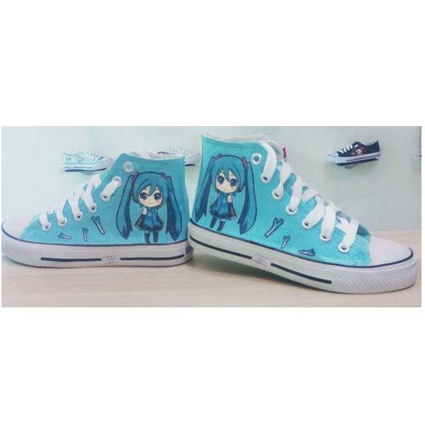 VOCALOID shoes custom anime VOCALOID shoes custom high-top sneak
