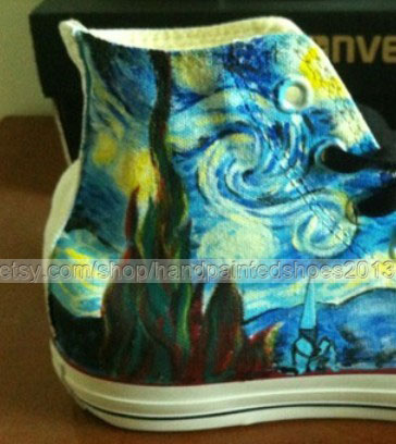 Van Gogh Shoes Van Gogh Sneakers custom Van Gogh Hand Painted Sh-2
