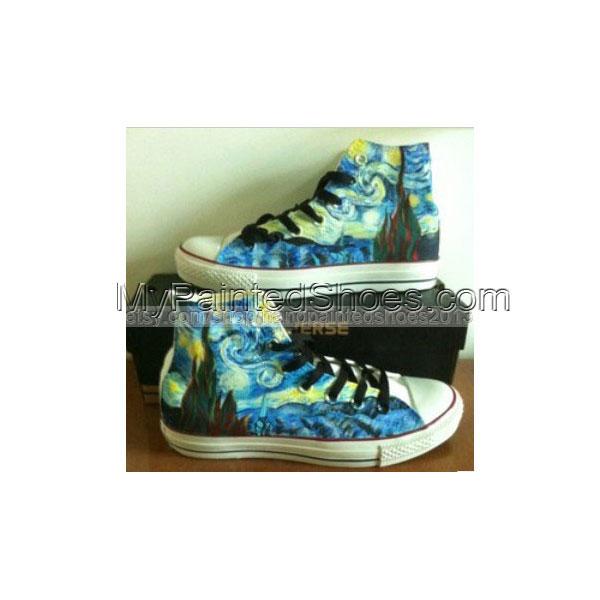 Van Gogh Shoes Van Gogh Sneakers custom Van Gogh Hand Painted Sh