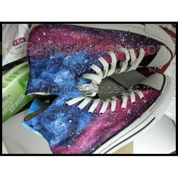 galaxy shoes for women/wen galaxy painted canvas shoes galaxy ch