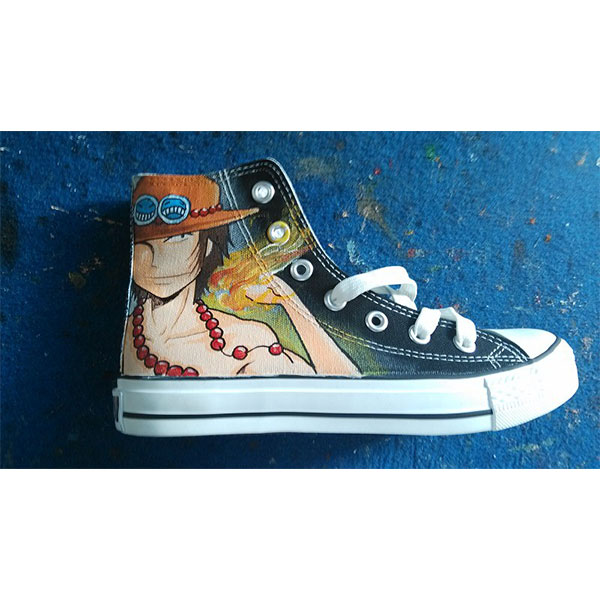 one piece shoes Anime Shoes one piece shoes Hand Painted one pie-2