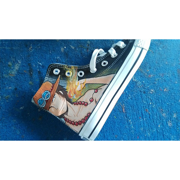 one piece shoes Anime Shoes one piece shoes Hand Painted one pie-3