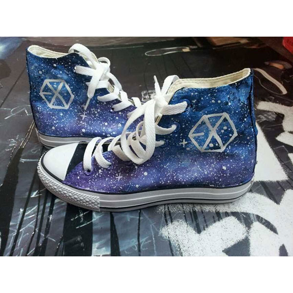 galaxy shoes custom galaxy shoes galaxy painted canvas shoes-1