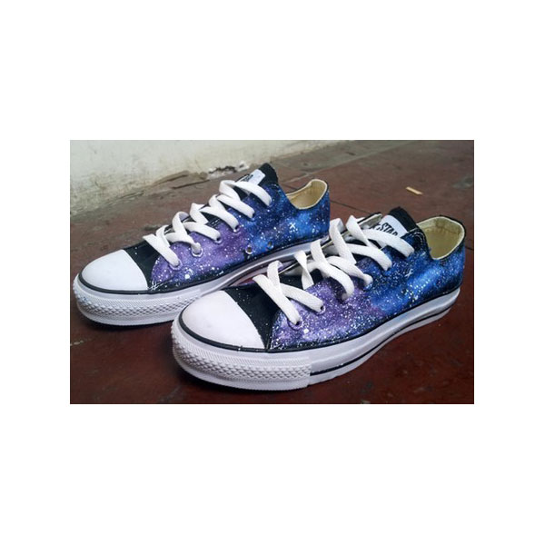 galaxy shoes painted sneakers Custom galaxy painted sneakers han