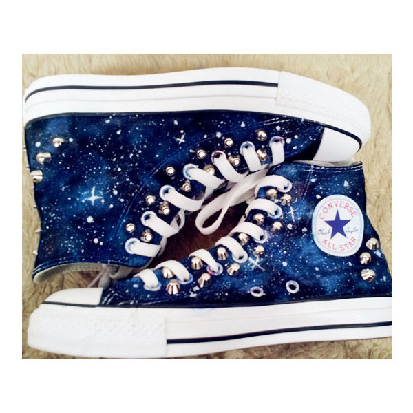 galaxy painted canvas shoes galaxy chucks