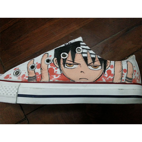 death the kid shoes Soul Eater higtop chucks-1