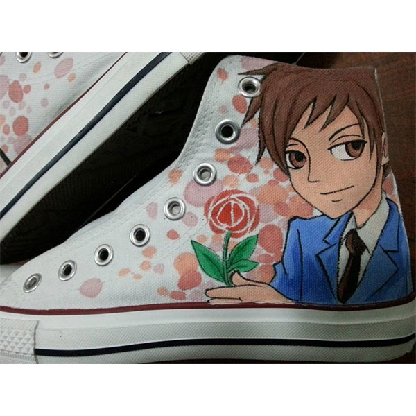 Ouran High School Host Club Anime shoes hand painted high tops-1