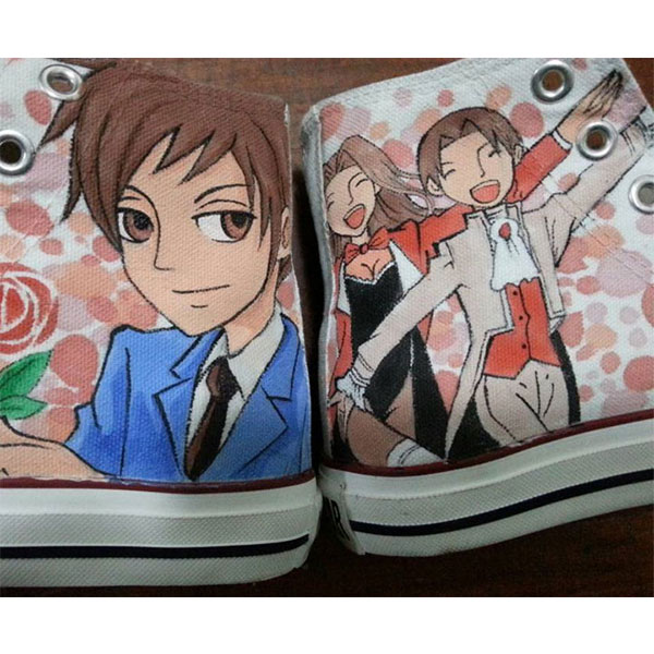 Ouran High School Host Club Anime shoes hand painted high tops