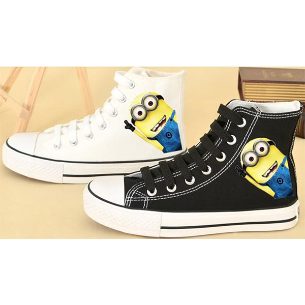 b1007d1a783b Despicable Me Minion Hand Painted Shoes.  66.99 · Despicable me minion shoes  for sale minion high tops