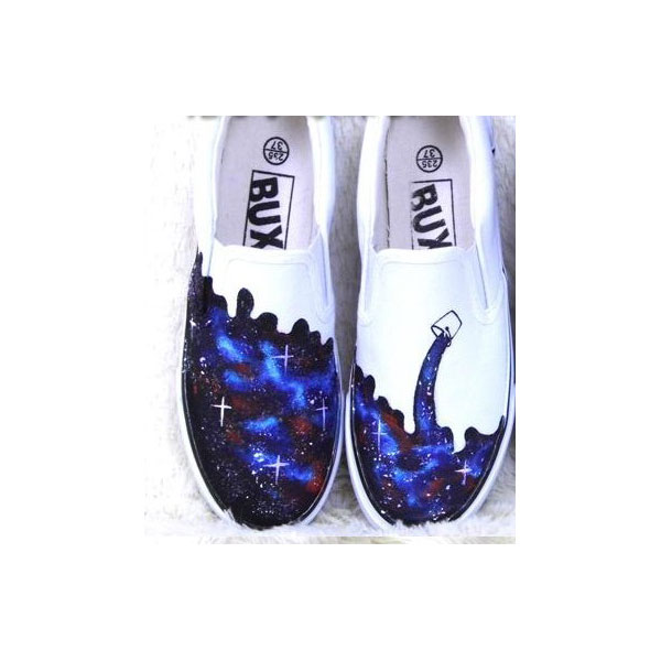 galaxy slip on shoes custom galaxy shoes