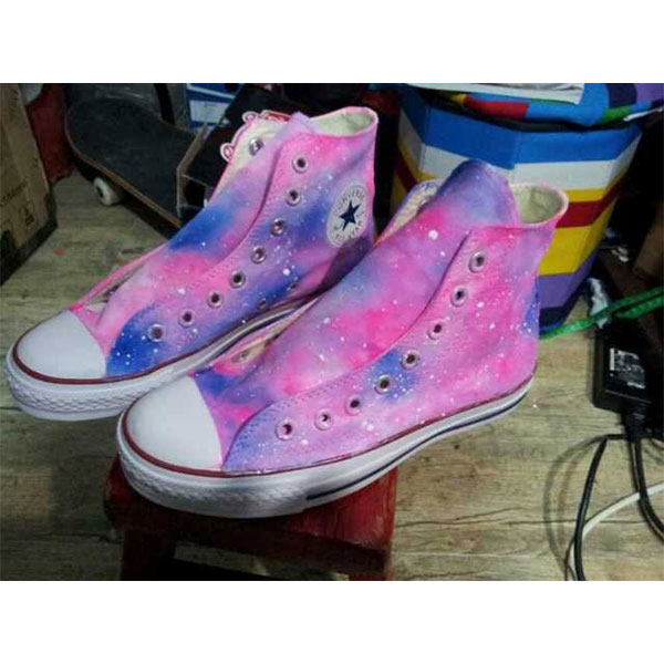 galaxy painted canvas shoes-1