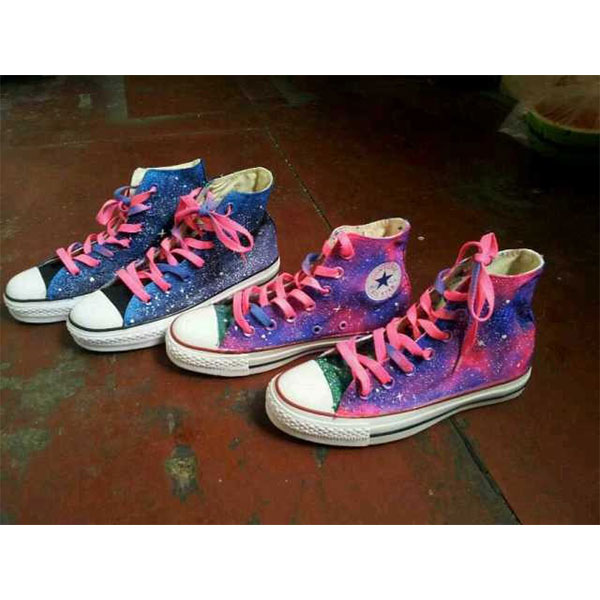 galaxy shoes galaxy painted canvas shoes