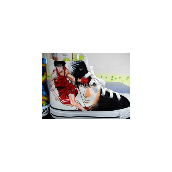Naruto Anime Uzumaki Hand Painted Shoes painted naruto shoes-2
