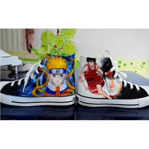 Naruto Anime Uzumaki Hand Painted Shoes painted naruto shoes