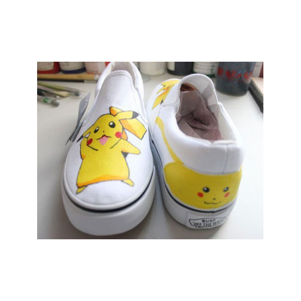 pokemon shoes hand painted shoes anime shoes pokemon trainer sho-1