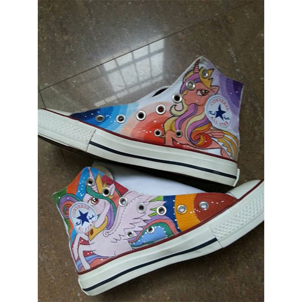 my little pony hand painted shoes my little pony sneakers(4 Side-1
