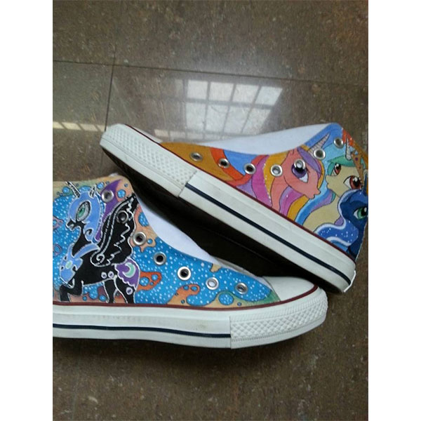 my little pony hand painted shoes my little pony sneakers(4 Side-3