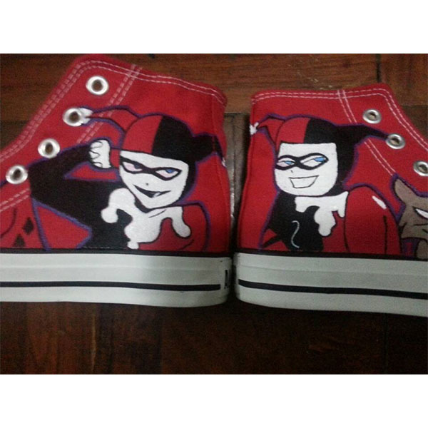 harley quinn sneakers harley quinn handpainted canvas shoes for -1