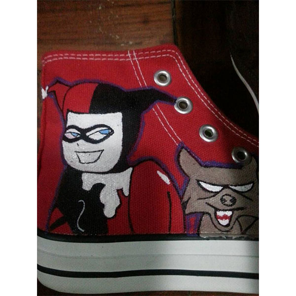 harley quinn sneakers harley quinn handpainted canvas shoes for -3