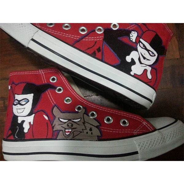 harley quinn sneakers harley quinn handpainted canvas shoes for