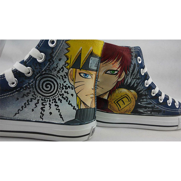 Naruto Anime Shoes Custom Naruto Painted High-top Hand Painted-2