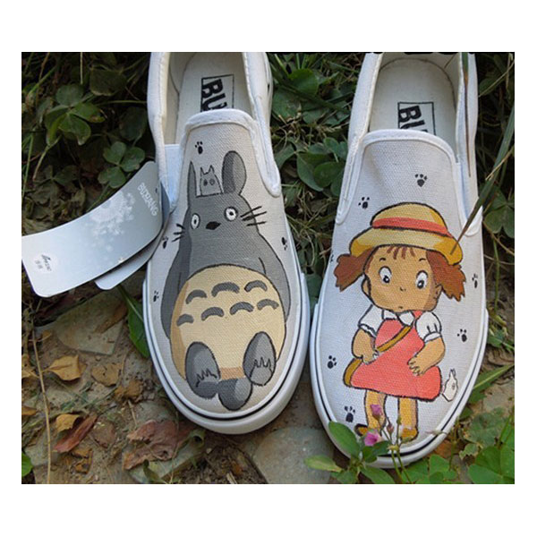 totoro shoes painted canvas shoes totoro anime shoes
