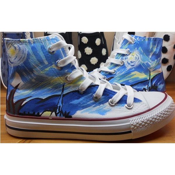 Vincent Van Gogh shoes Vincent Van Gogh high top hand painted sh-2