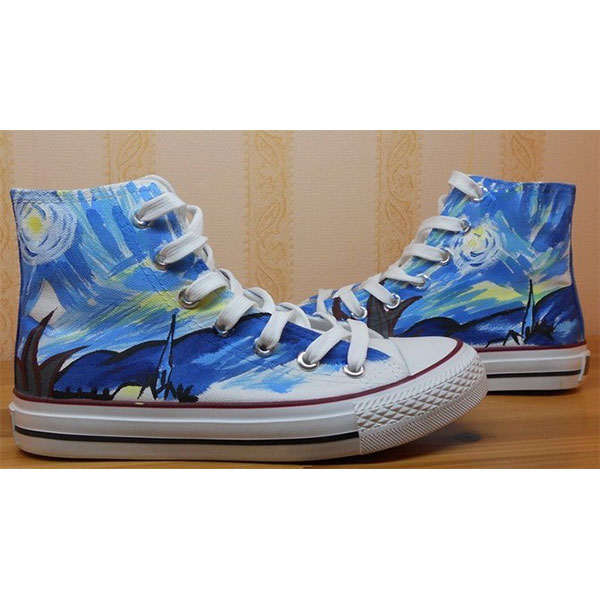 Vincent Van Gogh shoes Vincent Van Gogh high top hand painted sh