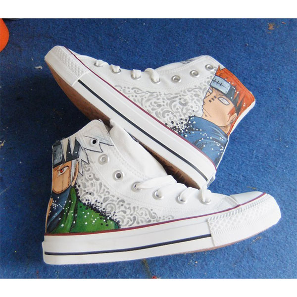 Naruto Anime Shoes Hand Painted Shoes-1